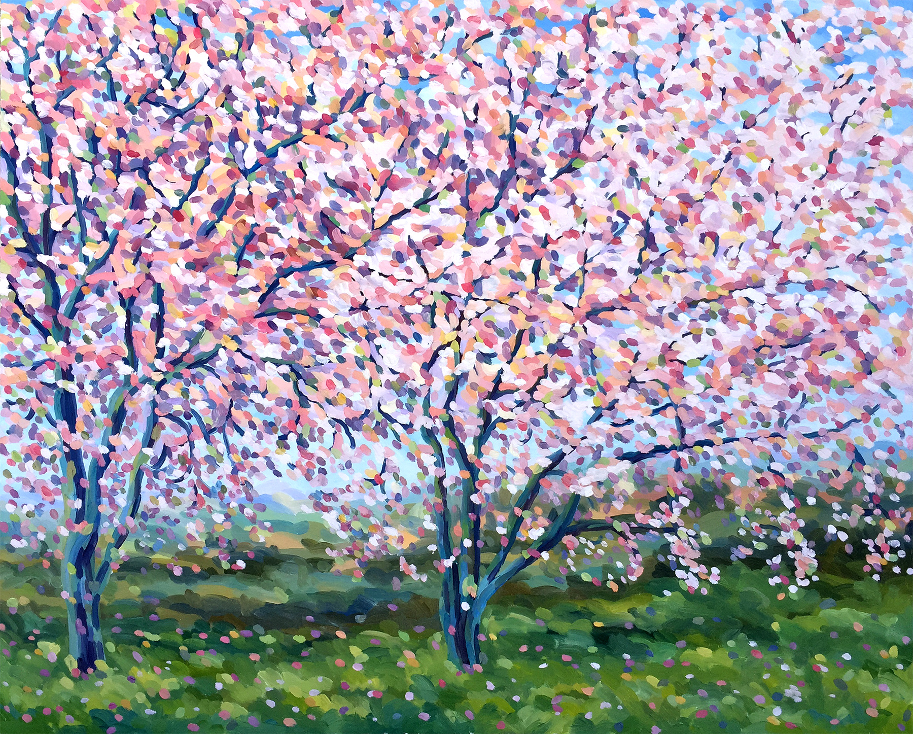Two Trees in Blossom (2016)